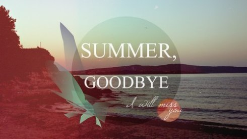 summer goodbye