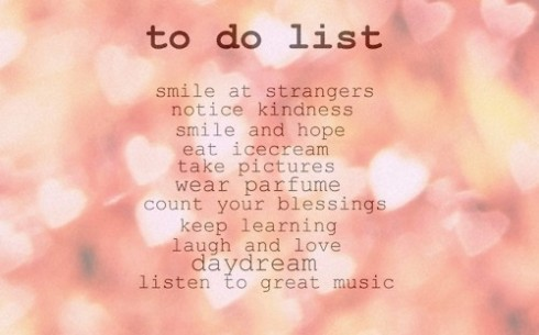 cute to do list