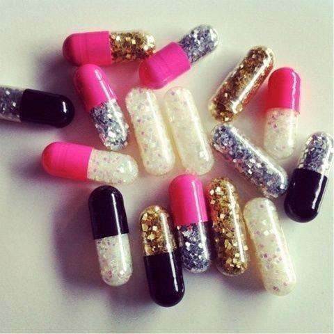 glitter pills