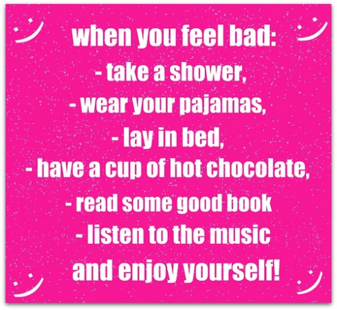 to do when feeling bad