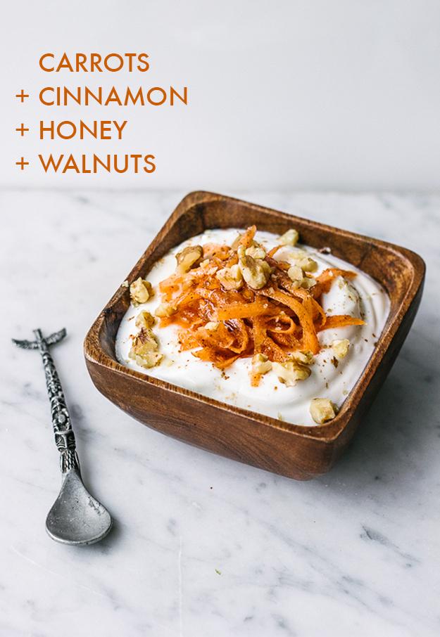 yogurt con zanahoria