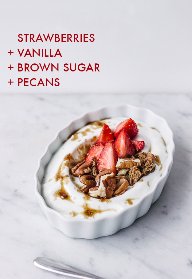 yogurt y frutillas