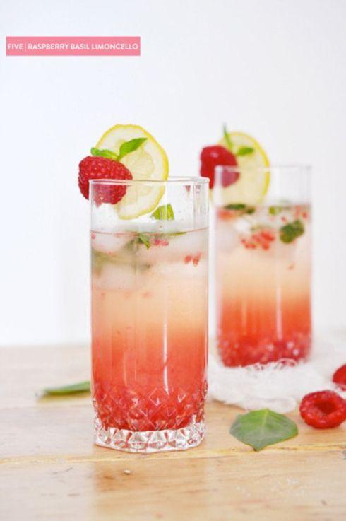 raspberry basil limoncello
