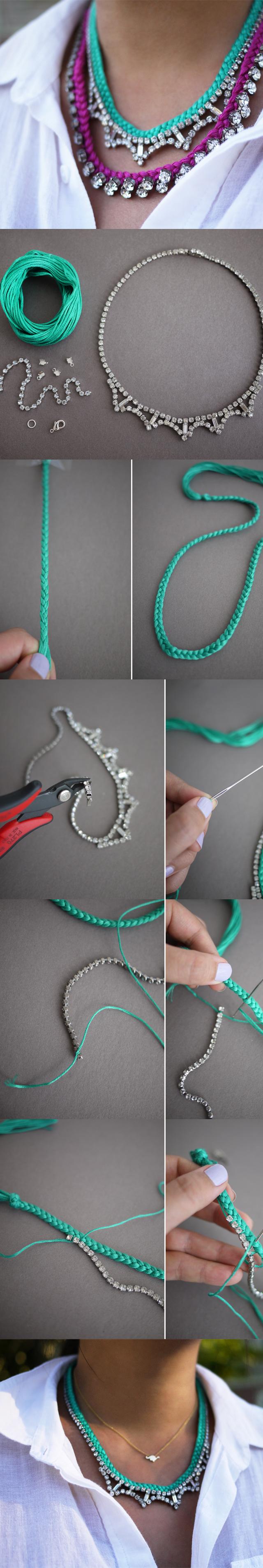 DIY-Braided-Rhinestone-Necklace
