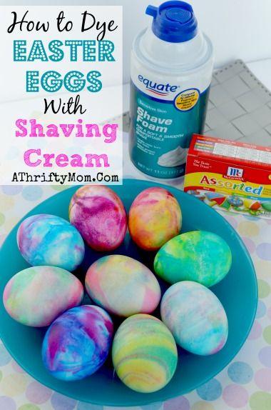 shaving cream eggs